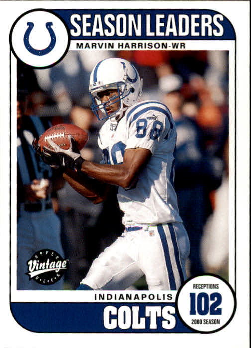2001 Upper Deck Vintage #193 Marvin Harrison SL