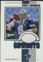 2001 Upper Deck Vintage Threads #TAVT Troy Aikman