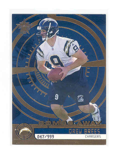 2001 Vanguard Bombs Away #13 Drew Brees