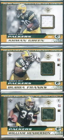2001 Vanguard Double Sided Jerseys #35 Tyrone Davis/Bubba Franks
