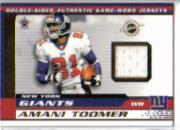 2001 Vanguard Double Sided Jerseys #46 Amani Toomer/Chris Sanders