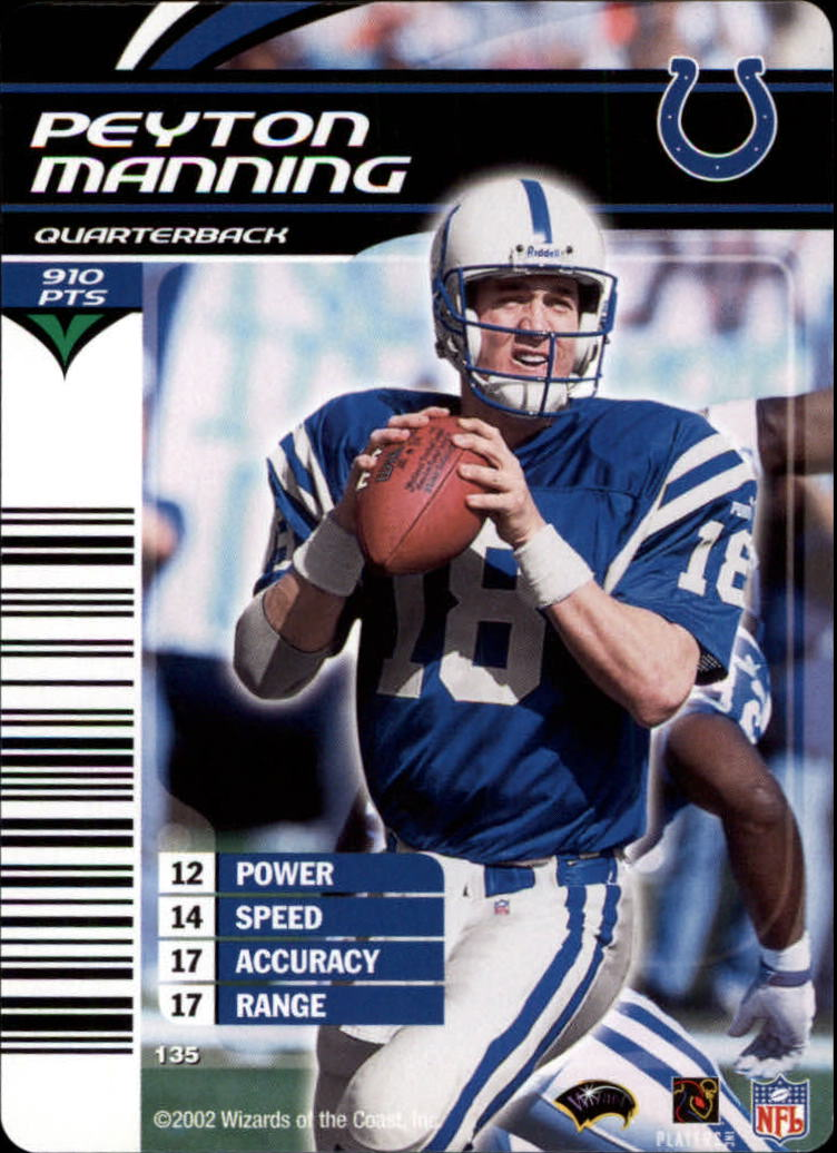 2002 NFL Showdown #135 Peyton Manning back image