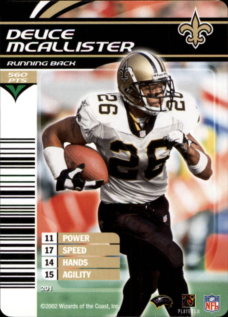 2002 NFL Showdown #201 Deuce McAllister back image
