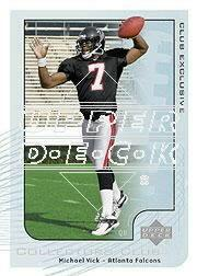 2002 Upper Deck Collector's Club #NFL15 Michael Vick