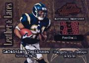 2002 Absolute Memorabilia Leather and Laces #LL44 LaDainian Tomlinson