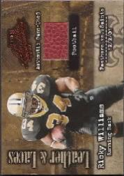2002 Absolute Memorabilia Leather and Laces #LL45 Ricky Williams