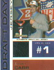 2002 Bowman Draft Day Relics #DDJDC David Carr JSY