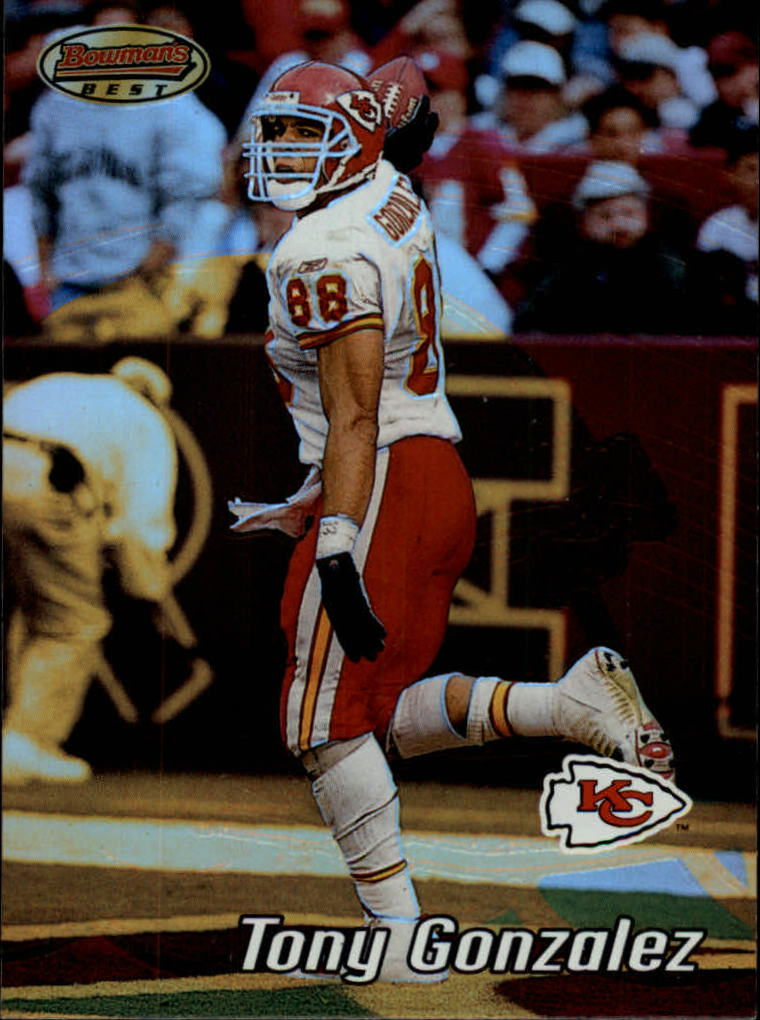 2002 Bowman's Best #80 Tony Gonzalez