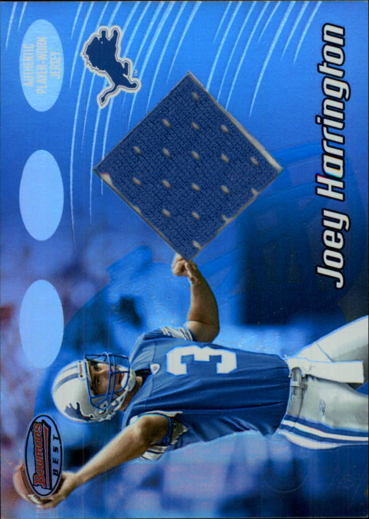 2002 Bowman's Best #92 Joey Harrington JSY RC
