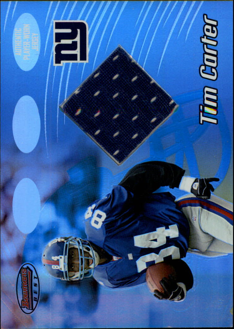 2002 Bowman's Best #99 Tim Carter JSY RC