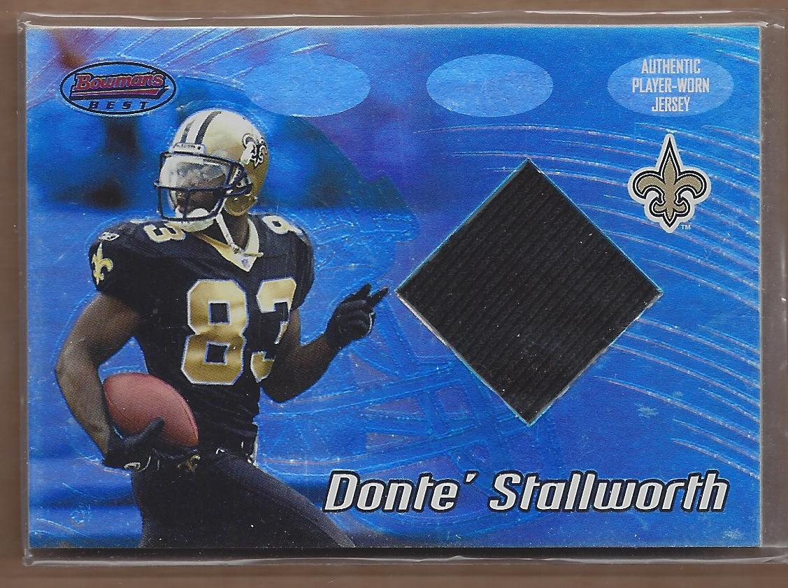 2002 Bowman's Best #103 Donte Stallworth JSY RC