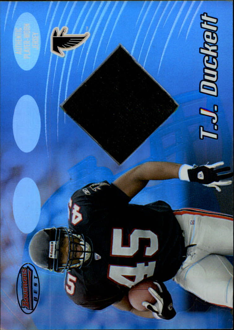 2002 Bowman's Best #109 T.J. Duckett JSY RC