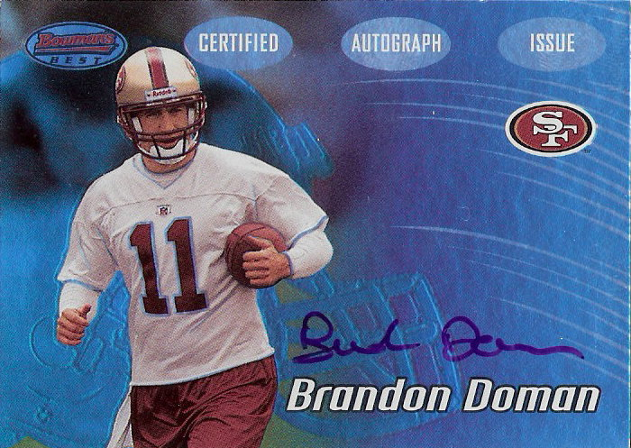 2002 Bowman's Best #122 Brandon Doman AU RC