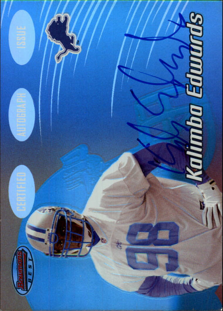 2002 Bowman's Best #146 Kalimba Edwards AU RC