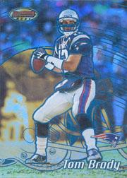 2002 Bowman's Best Blue #71 Tom Brady
