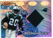 2002 Bowman's Best Blue #116 DeShaun Foster JSY
