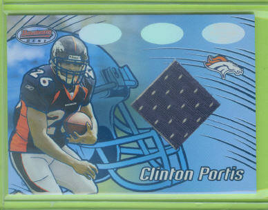 2002 Bowman's Best Blue #117 Clinton Portis JSY