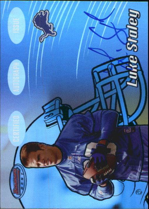 2002 Bowman's Best Blue #152 Luke Staley AU