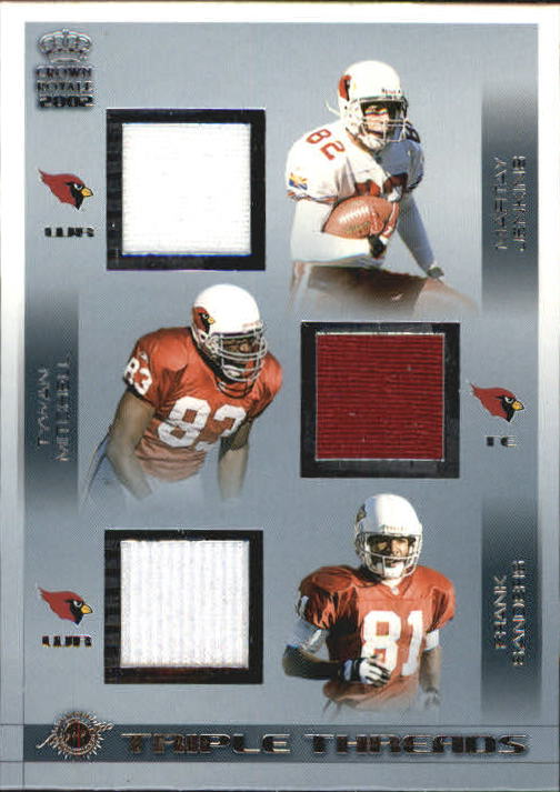 2002 Crown Royale Triple Threads Jerseys #2 MarTay Jenkins/Tywan Mitchell/Frank Sanders/1079