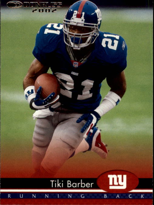 2002 Donruss #125 Tiki Barber
