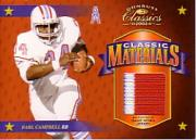 2002 Donruss Classics Classic Materials #CM9 Earl Campbell/150