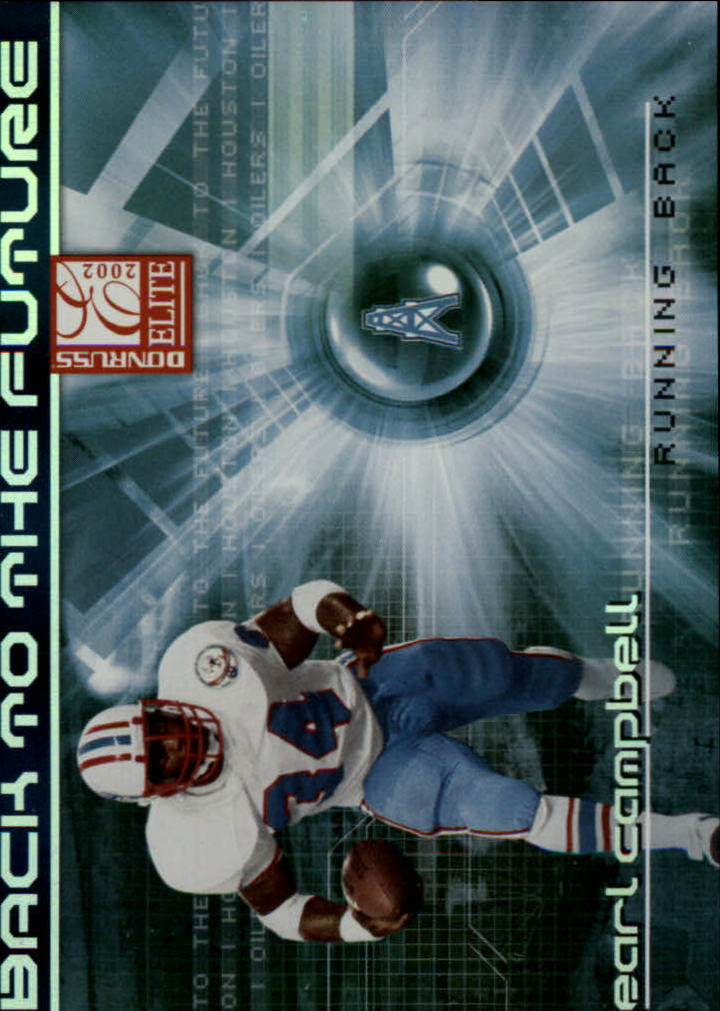 2002 Donruss Elite Back to the Future #BF11 Earl Campbell