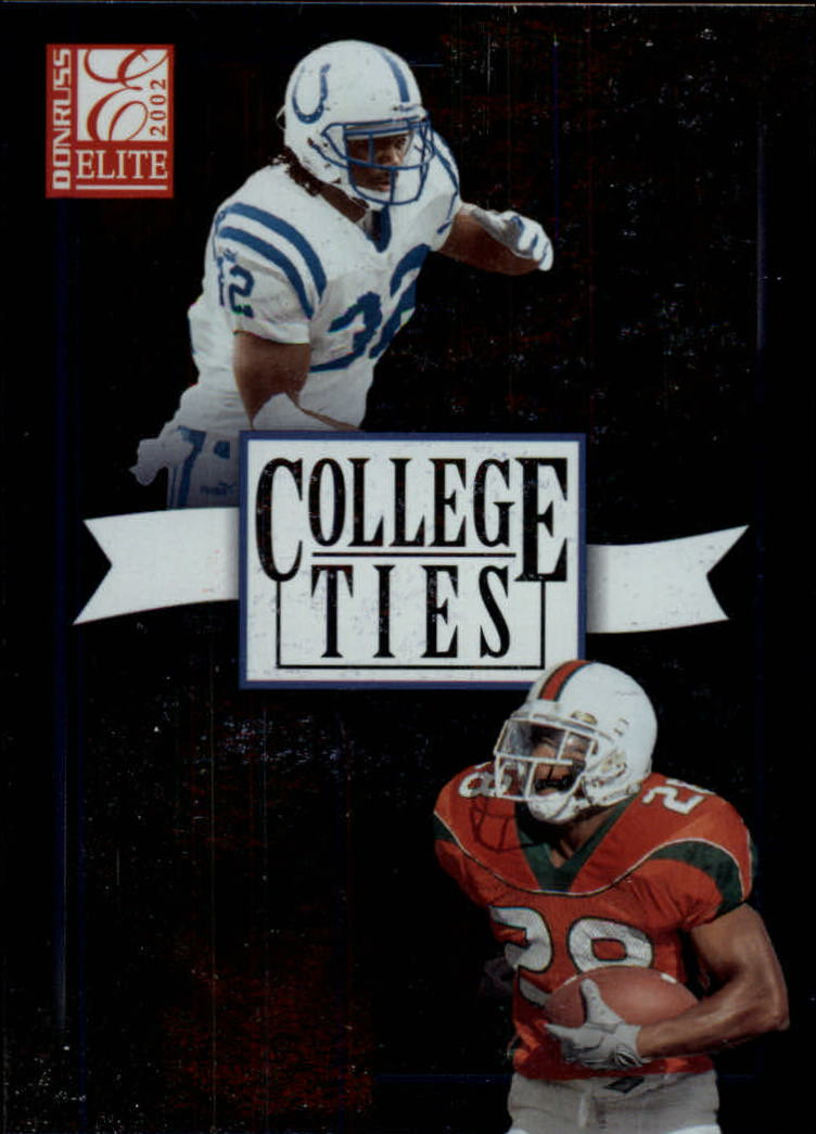 2002 Donruss Elite College Ties #CT6 Edgerrin James/Clinton Portis