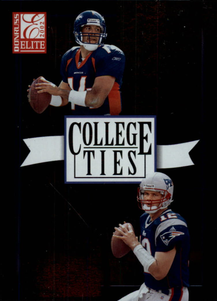 2002 Donruss Elite College Ties #CT15 Brian Griese/Tom Brady