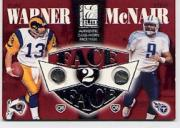 2002 Donruss Elite Face to Face #FF8 Steve McNair/Kurt Warner