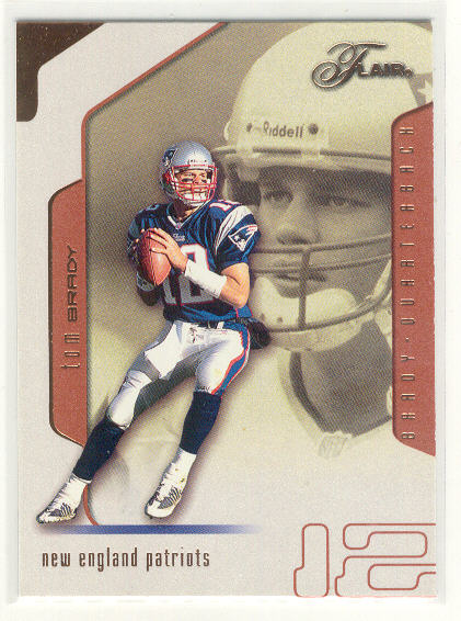 2002 Flair #89 Tom Brady front image