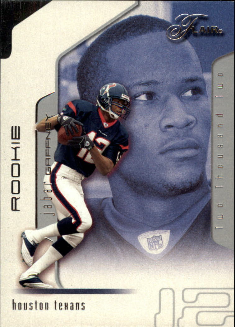 2002 Flair #121 Jabar Gaffney RC