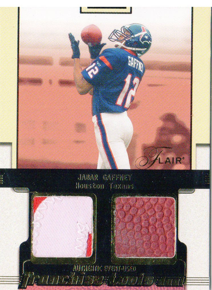2002 Flair Franchise Tools Memorabilia Gold #7 Jabar Gaffney