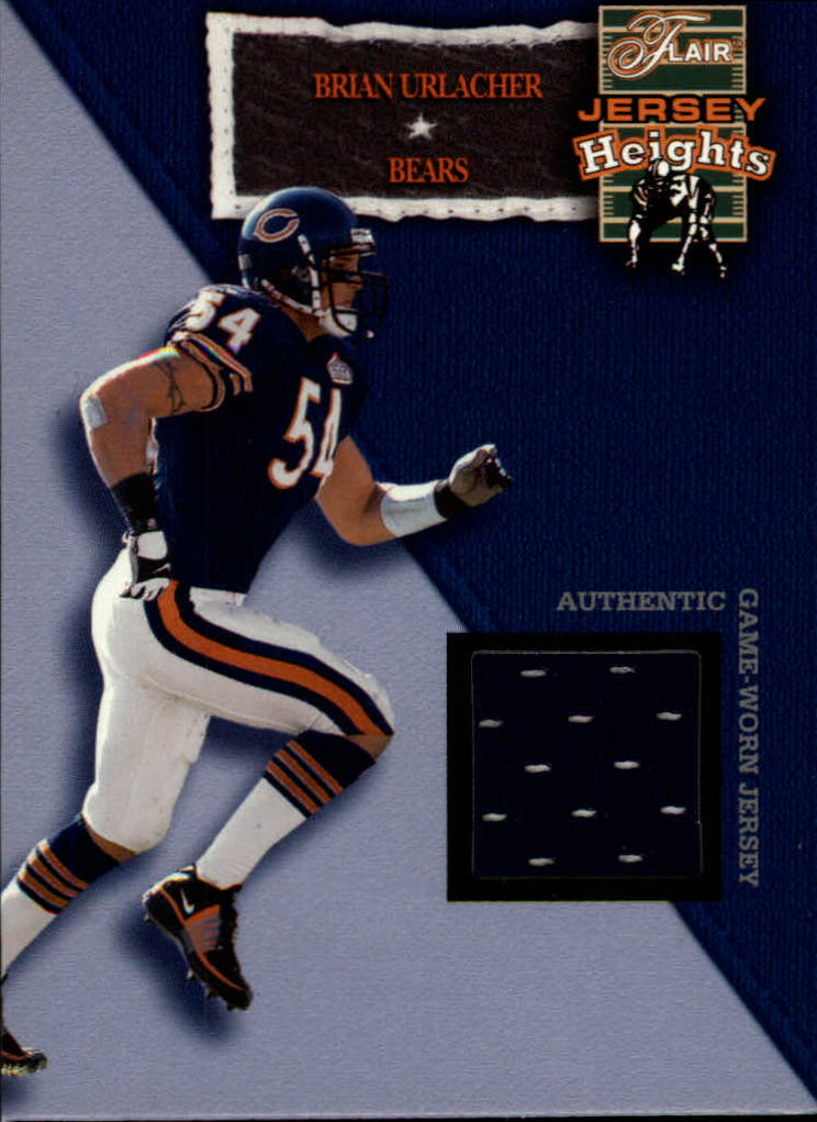 2002 Flair Jersey Heights Jerseys #11 Brian Urlacher