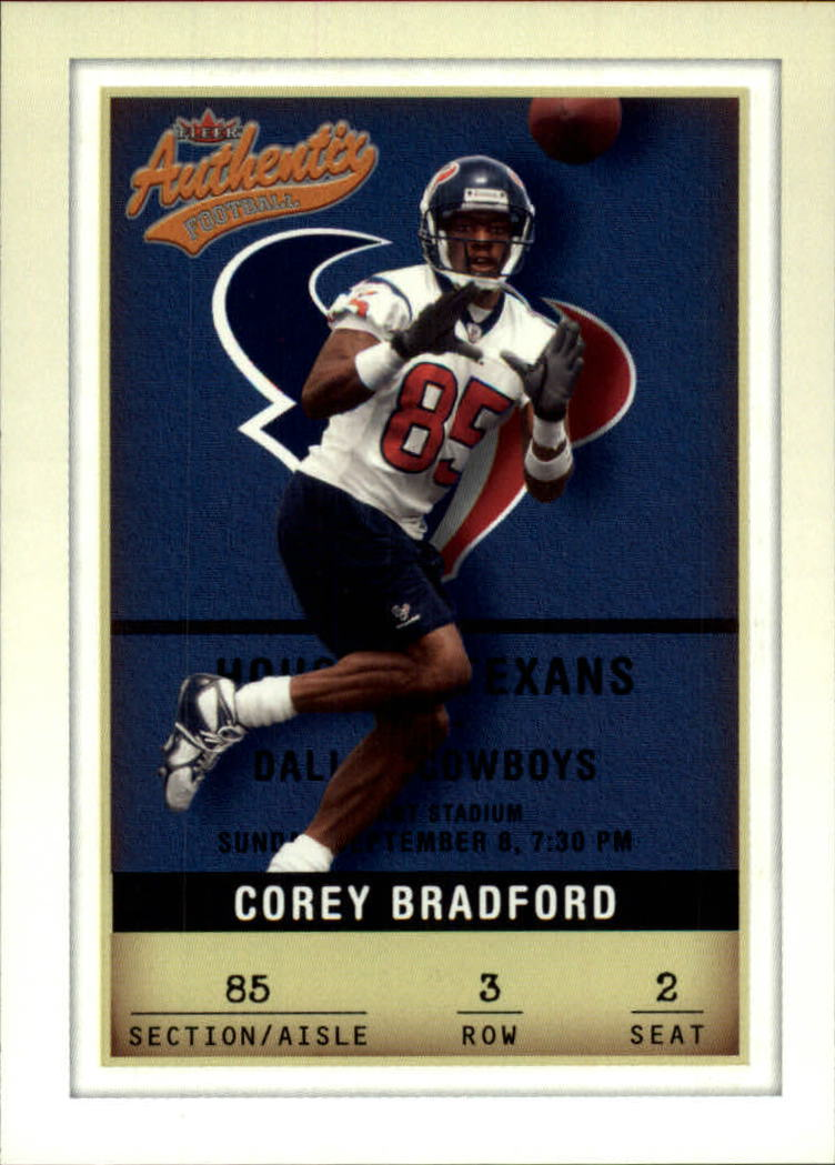 2002 Fleer Authentix #3 Corey Bradford