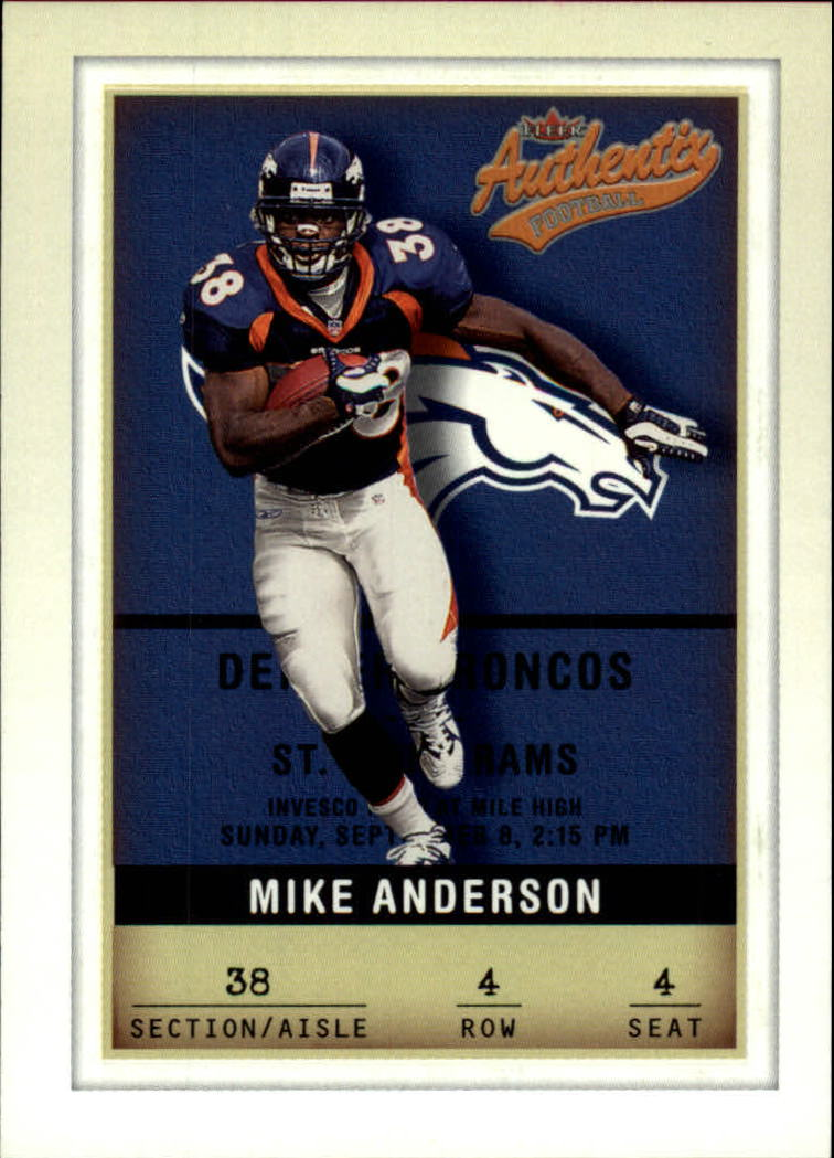 2002 Fleer Authentix #4 Mike Anderson