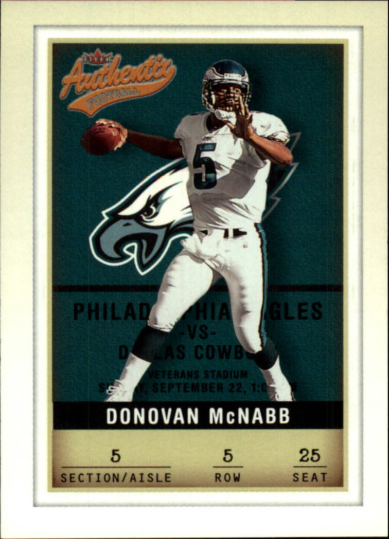2002 Fleer Authentix #5 Donovan McNabb front image