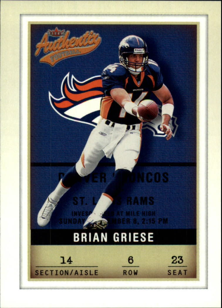 2002 Fleer Authentix #6 Brian Griese
