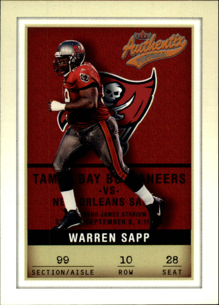 2002 Fleer Authentix #10 Warren Sapp