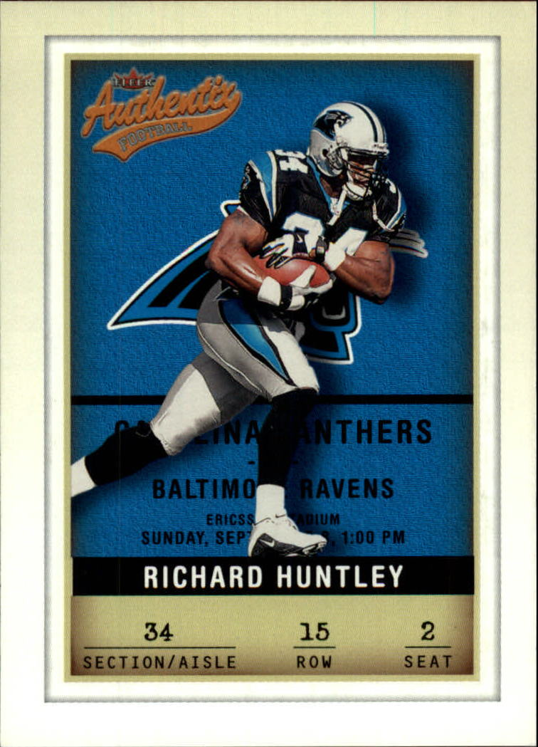 2002 Fleer Authentix #15 Richard Huntley