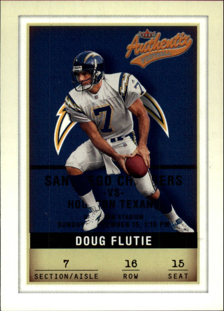 2002 Fleer Authentix #16 Doug Flutie