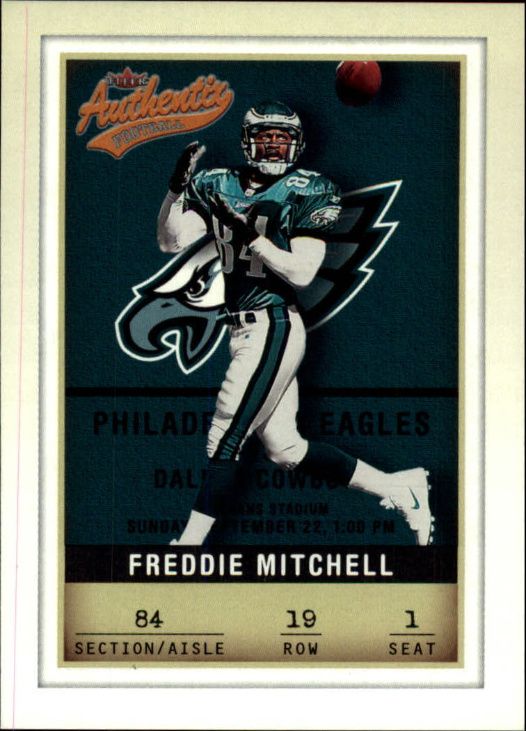 2002 Fleer Authentix #19 Freddie Mitchell