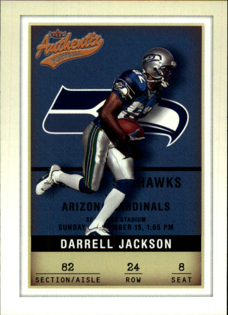2002 Fleer Authentix #24 Darrell Jackson