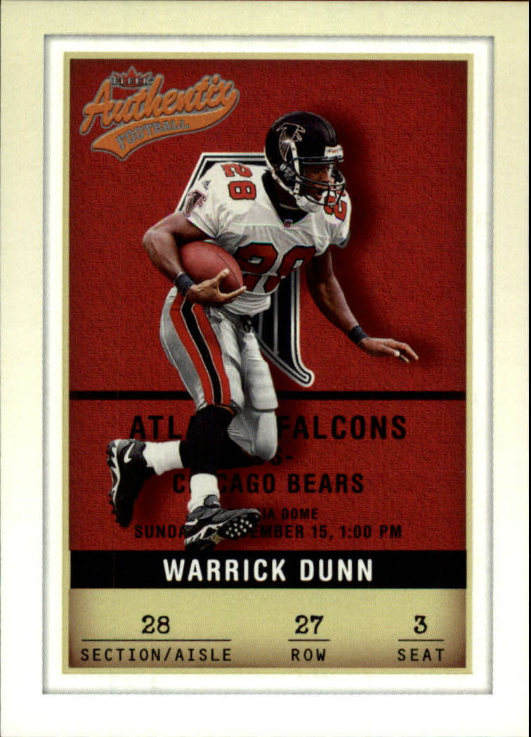2002 Fleer Authentix #27 Warrick Dunn