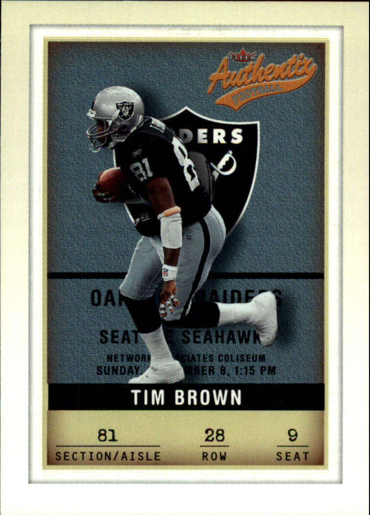 2002 Fleer Authentix #28 Tim Brown