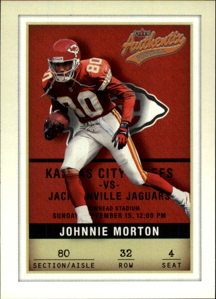 2002 Fleer Authentix #32 Johnnie Morton