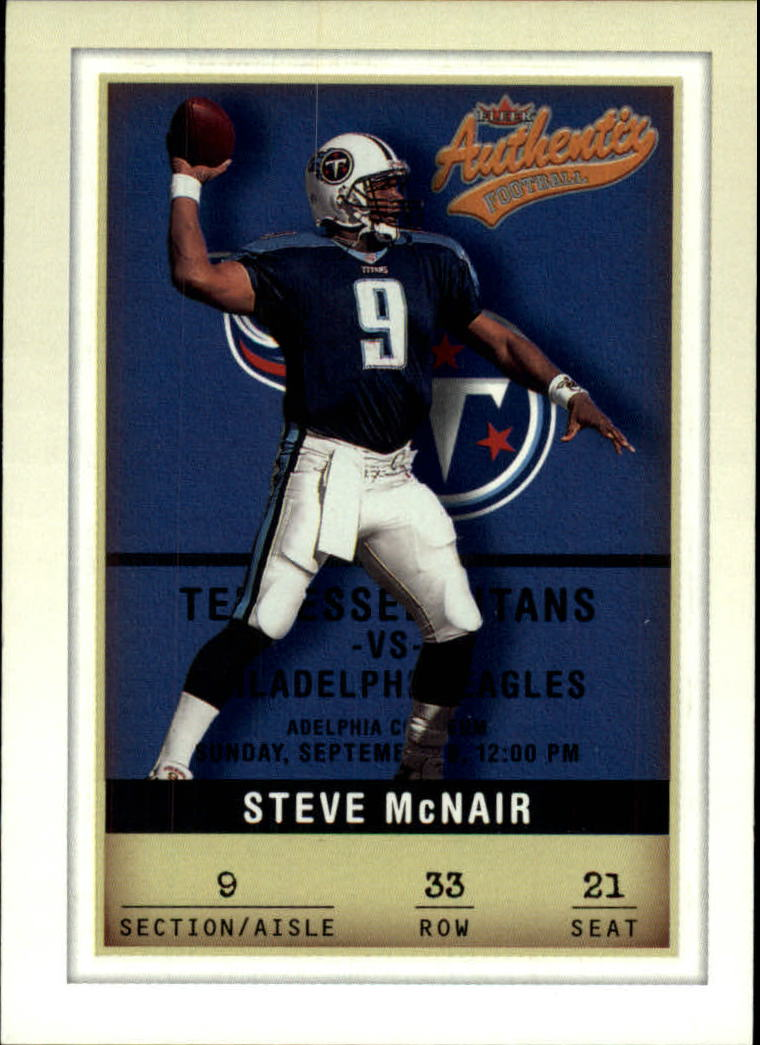 2002 Fleer Authentix #33 Steve McNair