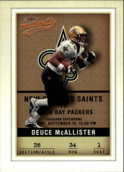 2002 Fleer Authentix #34 Deuce McAllister