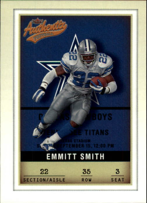 2002 Fleer Authentix #35 Emmitt Smith