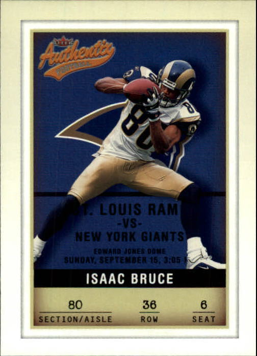 2002 Fleer Authentix #36 Isaac Bruce