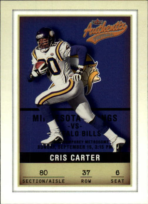 2002 Fleer Authentix #37 Cris Carter